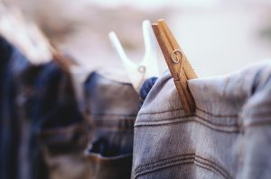 Denim Clothes Hanged Blur Jeans Color